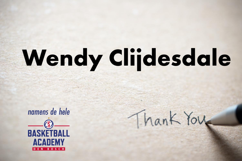 Wendy Clijdesdale stopt als secretaris